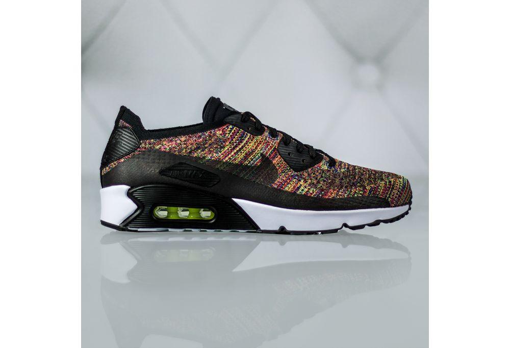 Nike Air Max 90 Print Ltr Gs 844616 001 | Biały, Czarny